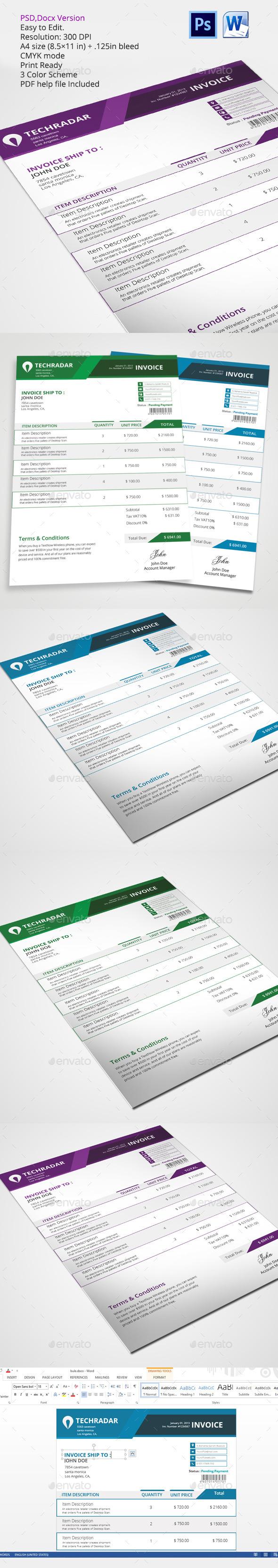 GraphicRiver invoice template 11003953