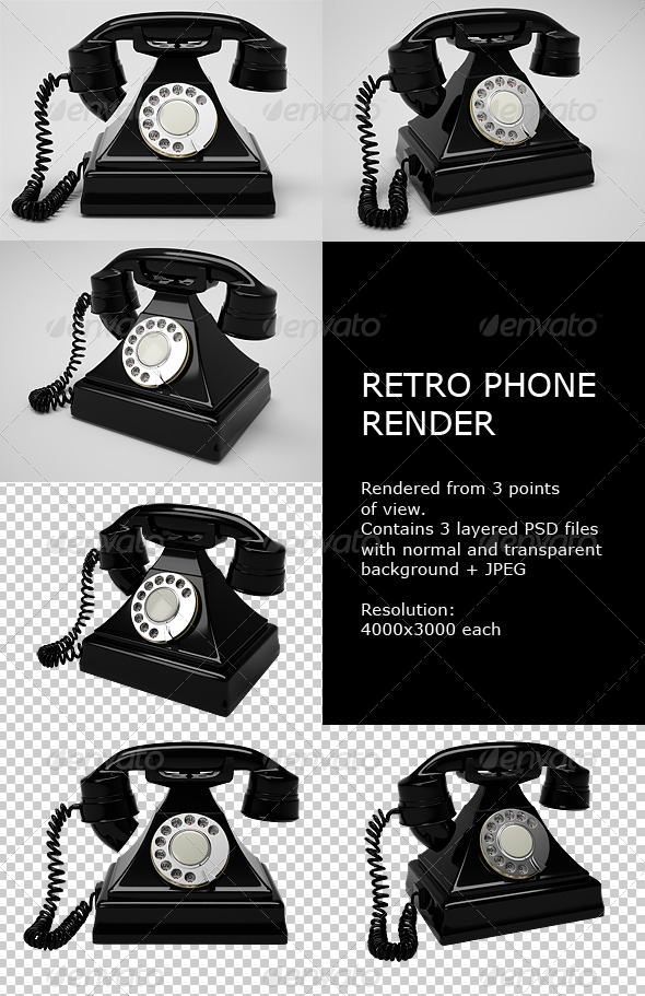 GraphicRiver Retro Phone Render 136427