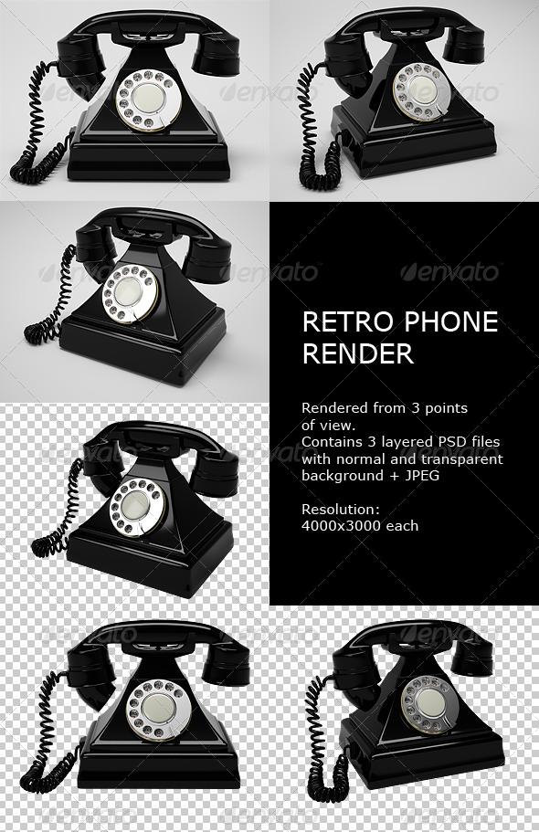 GraphicRiver Retro Phone Render 136427