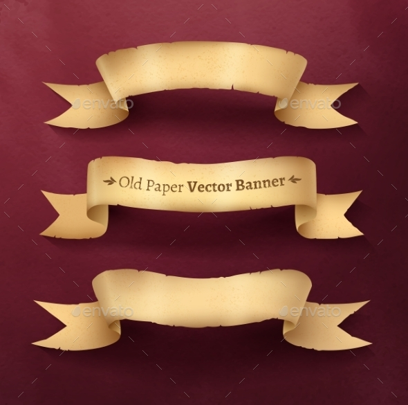 GraphicRiver Vintage Ribbon Banners 11004009