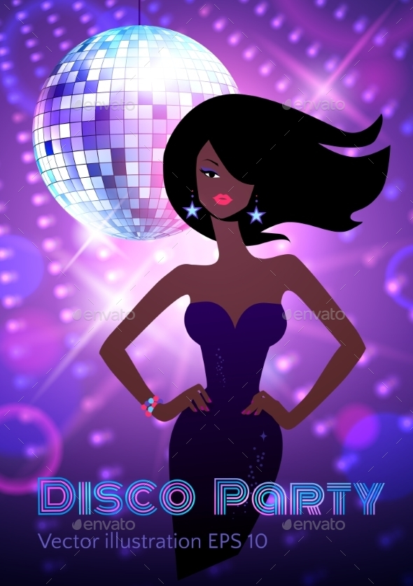 GraphicRiver Disco Party Flyer 11004065