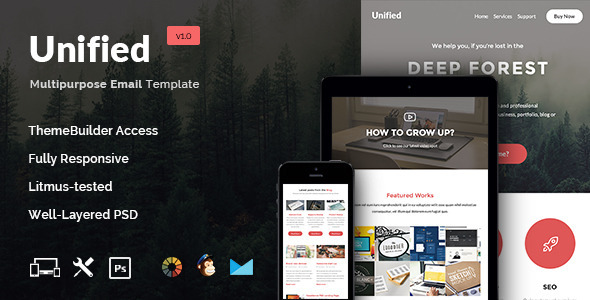 ThemeForest Unified E-Newsletter Template & Builder Access 11004136