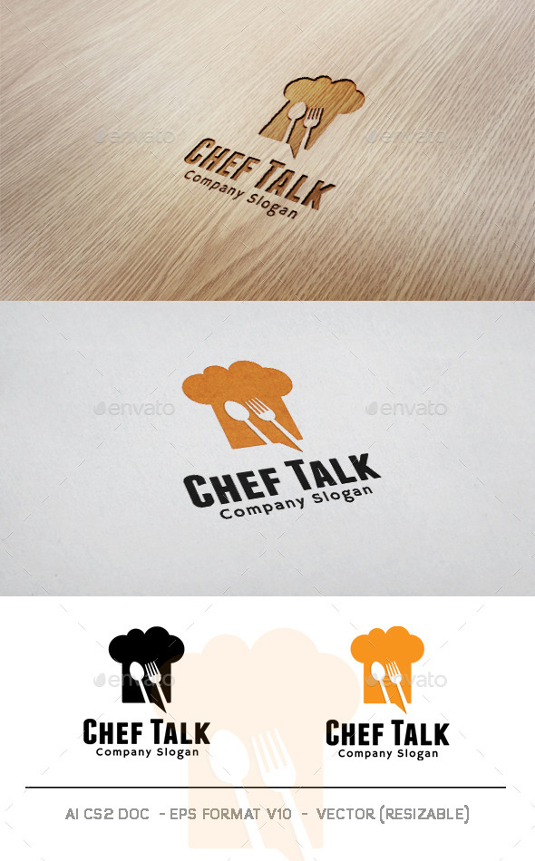 GraphicRiver Chef Talk Logo 11004141