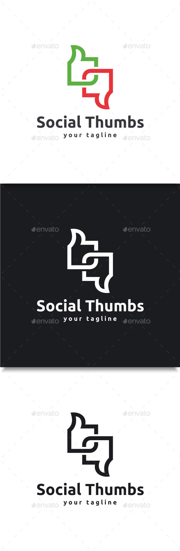 GraphicRiver Social Thumbs logo 11004365
