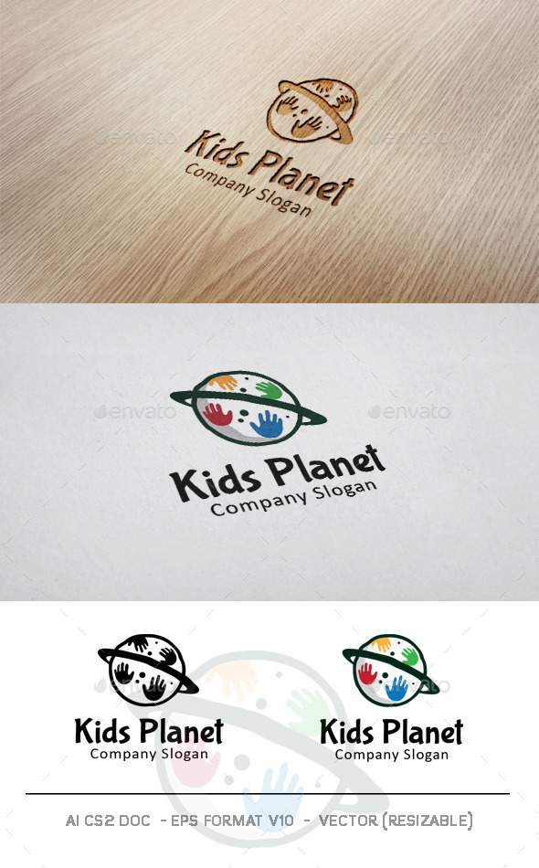 GraphicRiver Kids Planet Logo 11004423