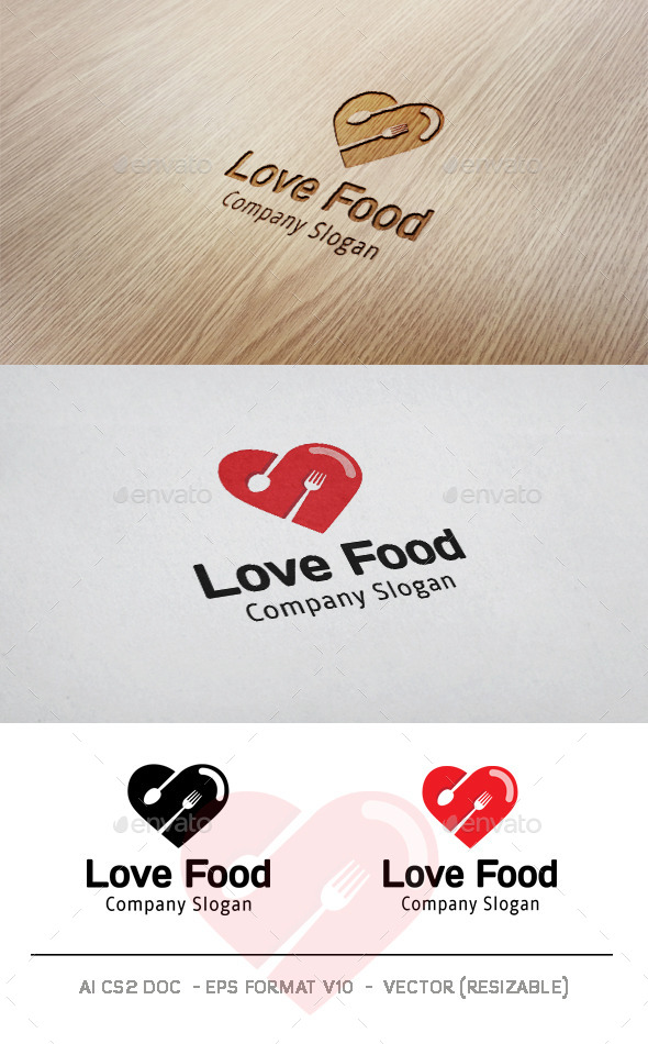 GraphicRiver Love Food Logo 11004530
