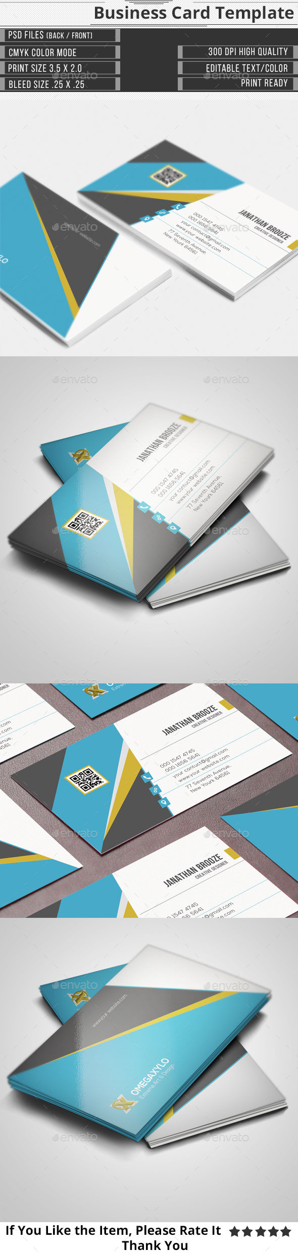 GraphicRiver Corporate Business Card 11004621