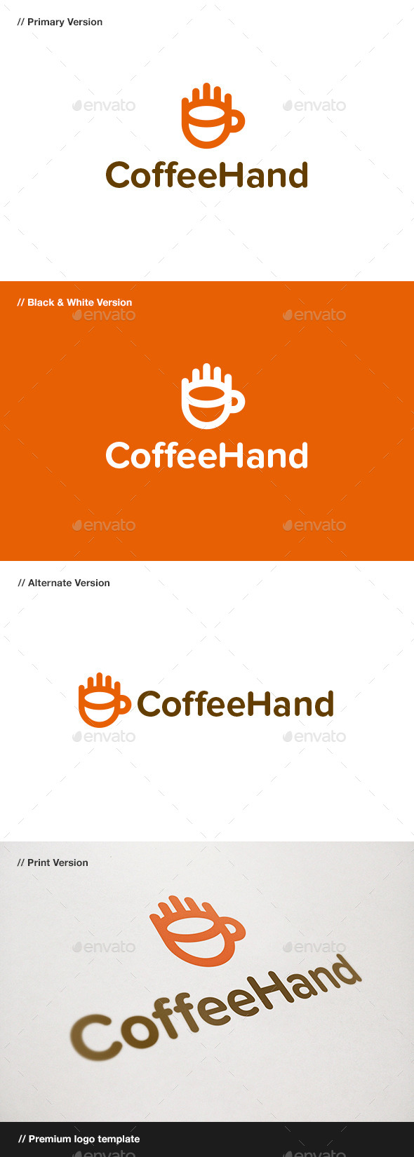 GraphicRiver Coffee Hand Logo 11004719