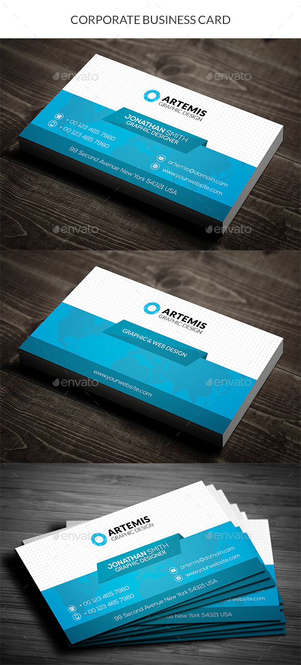 GraphicRiver Corporate Business Card 11004720