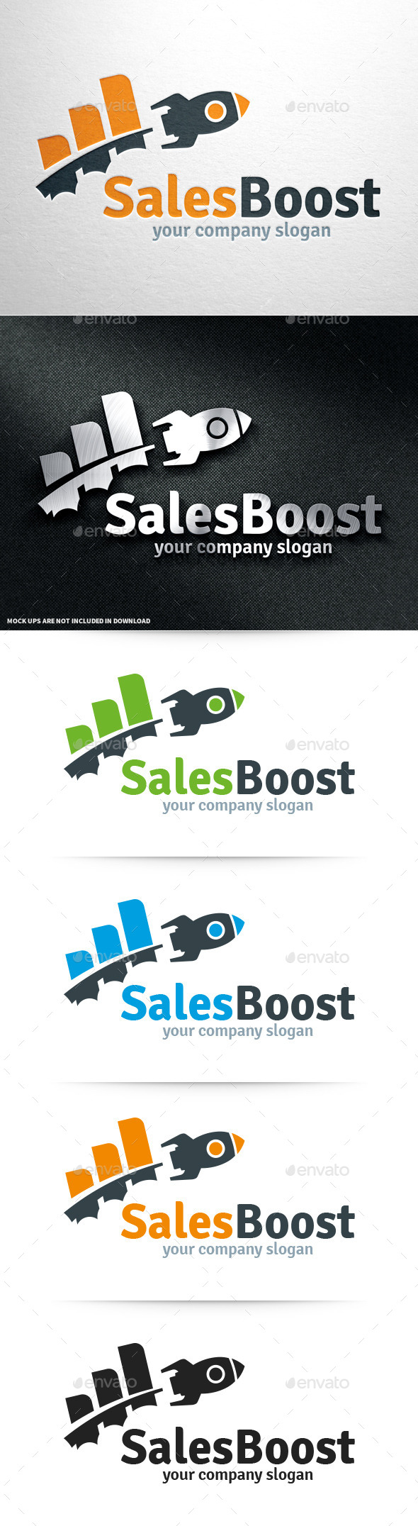 GraphicRiver Sales Boost Logo Template 11004847