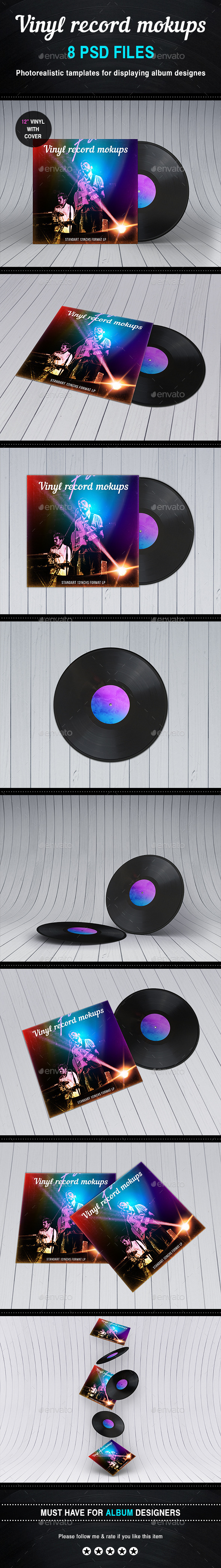 GraphicRiver Vinyl Record Album Mock-ups 10839818