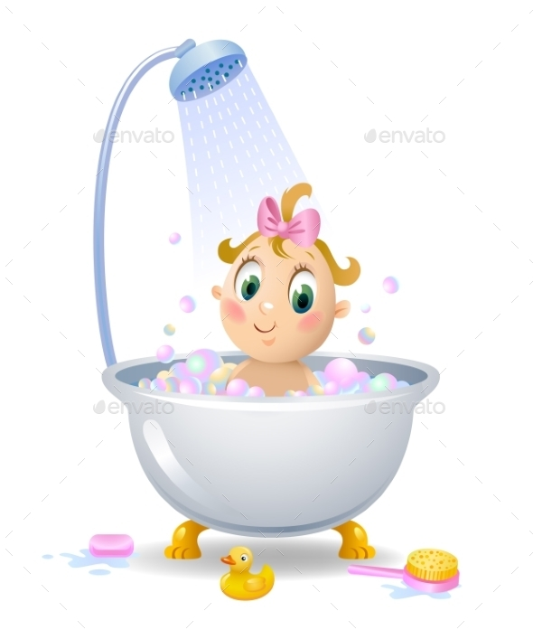 GraphicRiver Baby in the Shower 11004939