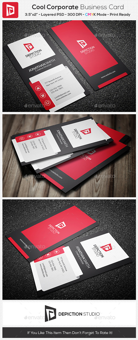 GraphicRiver Cool Corporate Business Card 11004981
