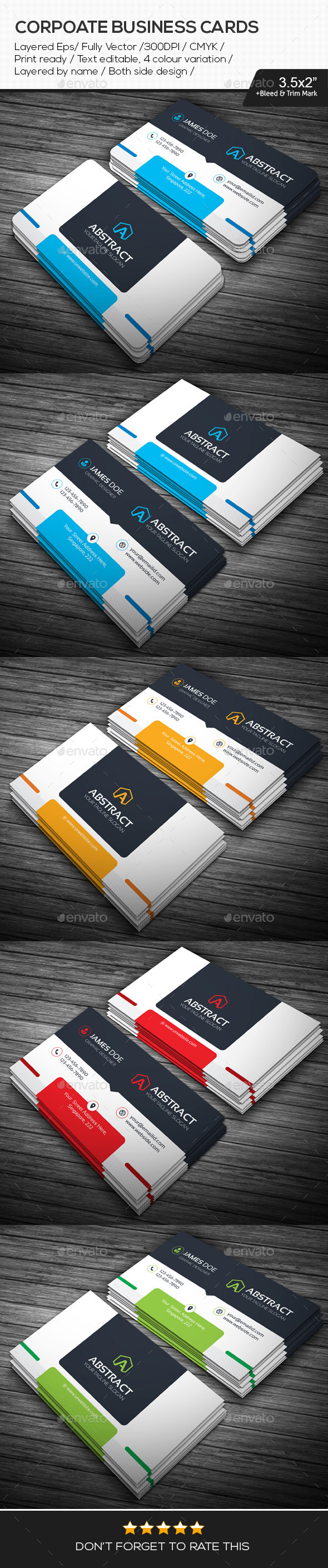 GraphicRiver Creative Corporate Business Cards 11005173