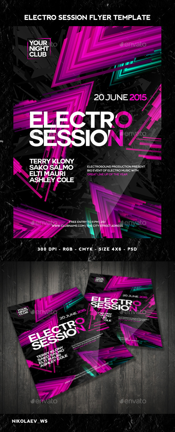 GraphicRiver Electro Session Flyer 10962060
