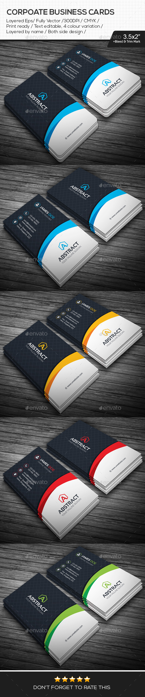 GraphicRiver Abstract Corporate Business Cards 11005248
