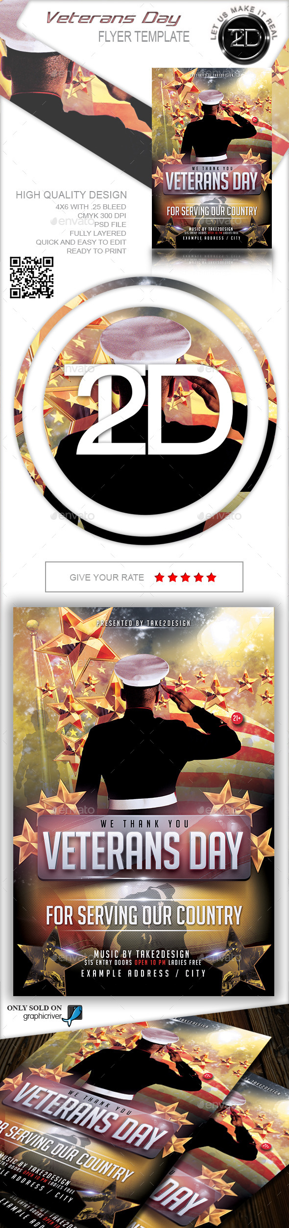 GraphicRiver Veterans Day Flyer Template 11005792