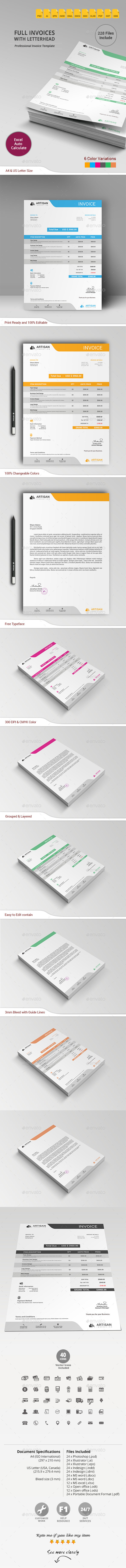 GraphicRiver Invoice with Letterhead 11005806