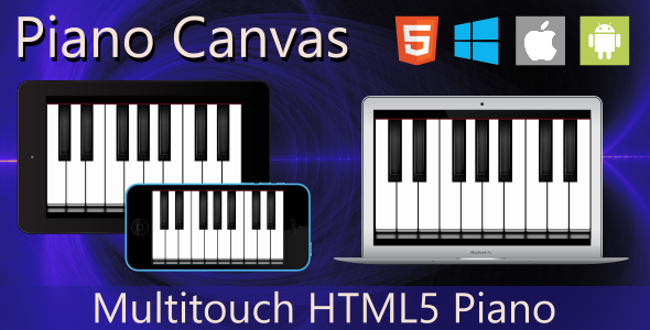 CodeCanyon Piano Canvas HTML5 11005817