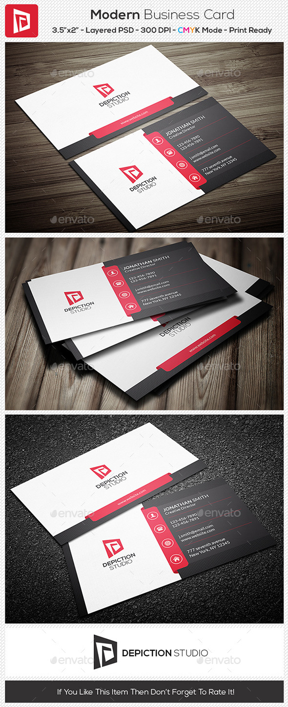 GraphicRiver Modern Business Card 11006045