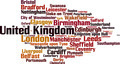 Cities in United Kingdom Word Cloud Concept - PhotoDune Item for Sale