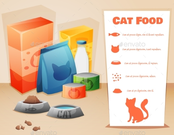 GraphicRiver Cat Food Concept 11006083