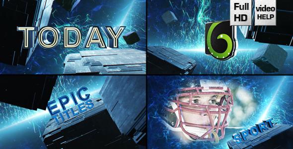 AE模板:史诗动作大片 三维元素 电影预告片 片头开场E3D模板包Videohive Epic Cube Trailer