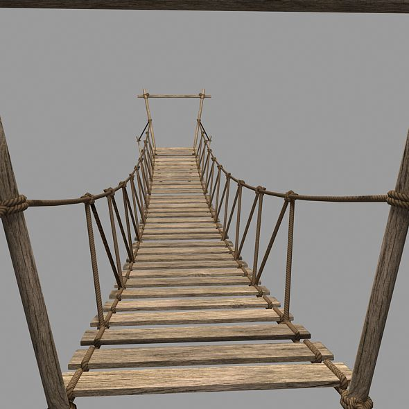 3DOcean Rope Bridge 3D Model 11006266