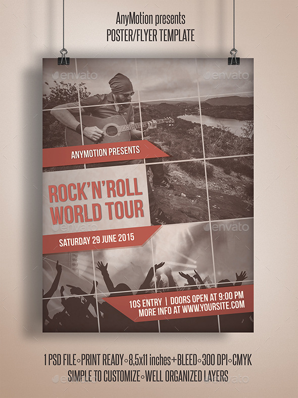GraphicRiver Indie Band Tour Flyer 11006414