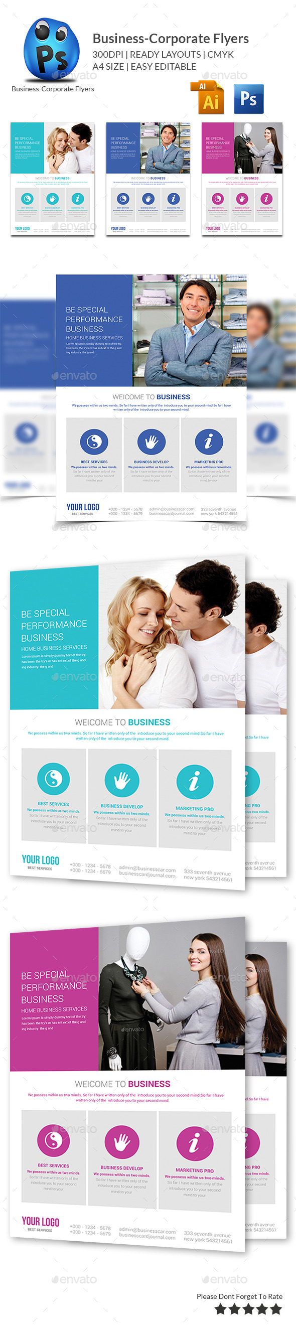 GraphicRiver Corporate Business Flyer Template 11006476