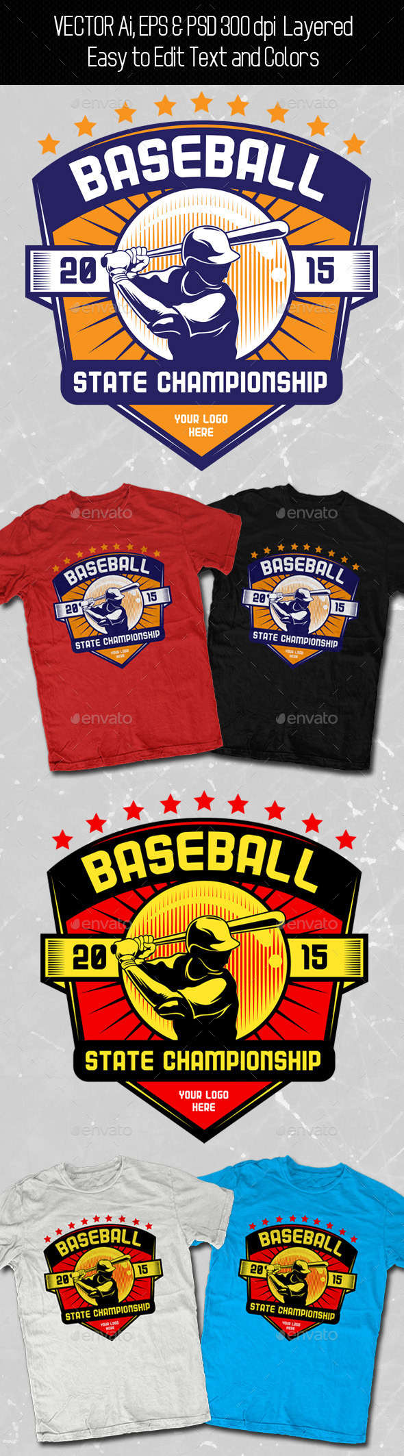 Baseball T-shirt Template