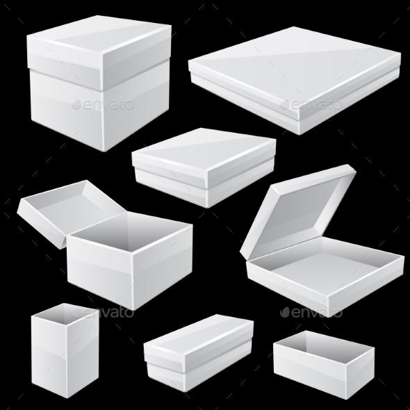 GraphicRiver White Boxes 11006573