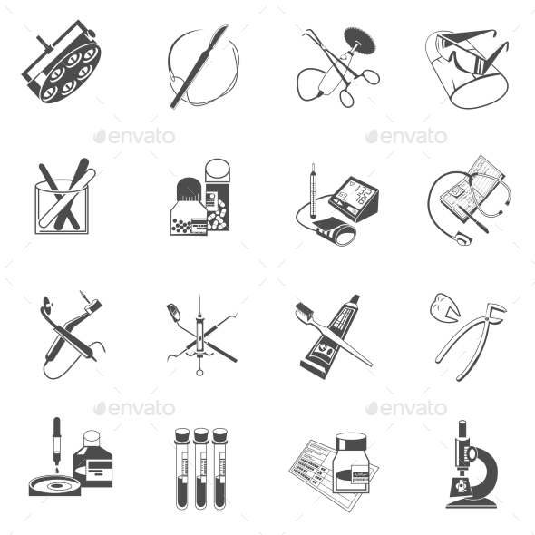 GraphicRiver Medical Healthcare Icons Set 11007260