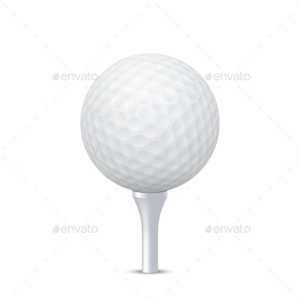 GraphicRiver Golf Ball on Tee 11007343