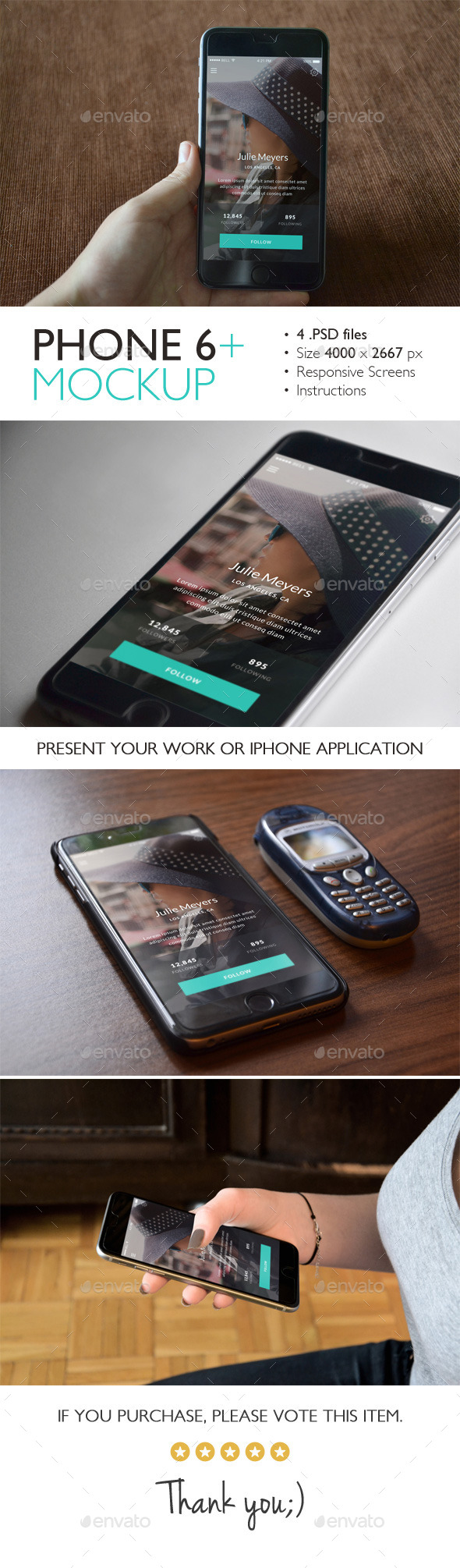 GraphicRiver Phone 6 Plus Mockup 11007700