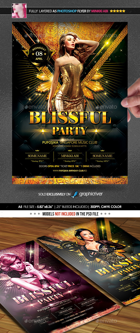 GraphicRiver Blissful Party Poster Flyer 11007776
