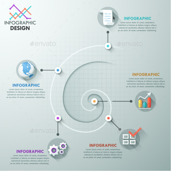 GraphicRiver Modern Infographic Spiral Template 11007800
