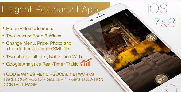 CodeCanyon Restaurant Elegant Template IOS 11007951