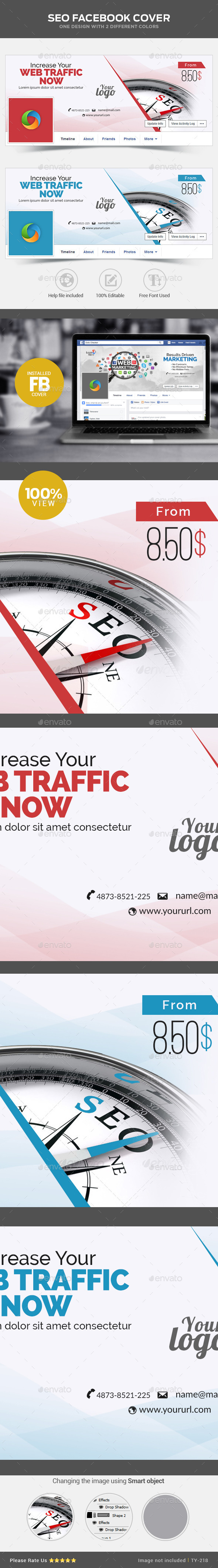 GraphicRiver SEO Facebook Cover 11008338