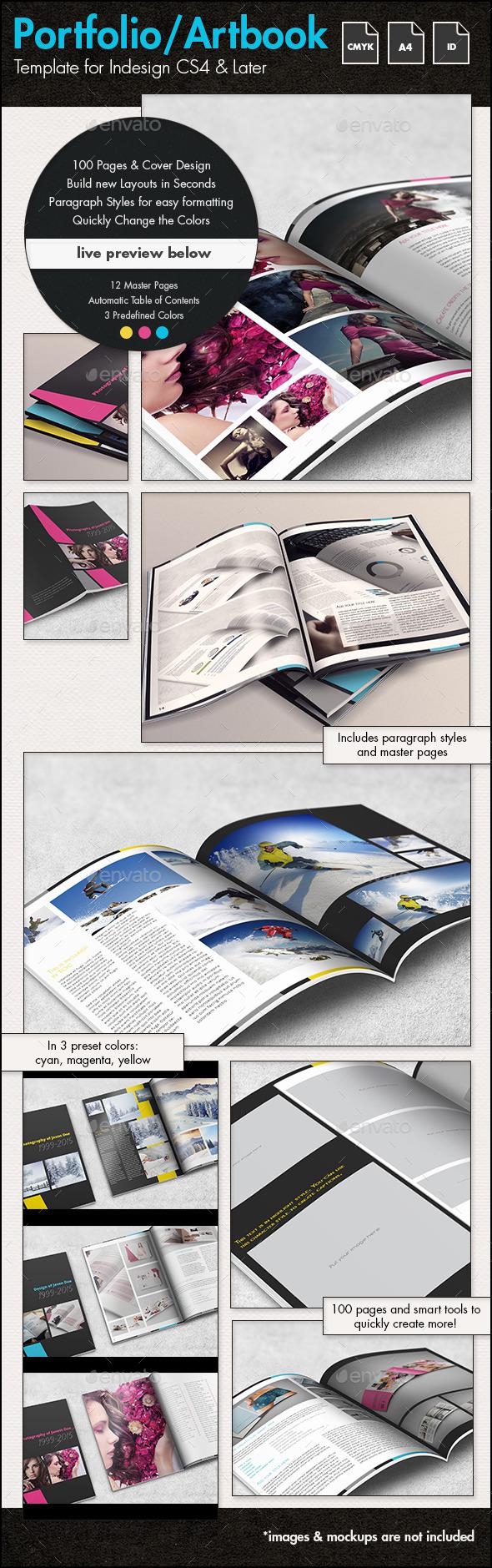 GraphicRiver Photofolio & Artbook Template A4 Portrait 11008699