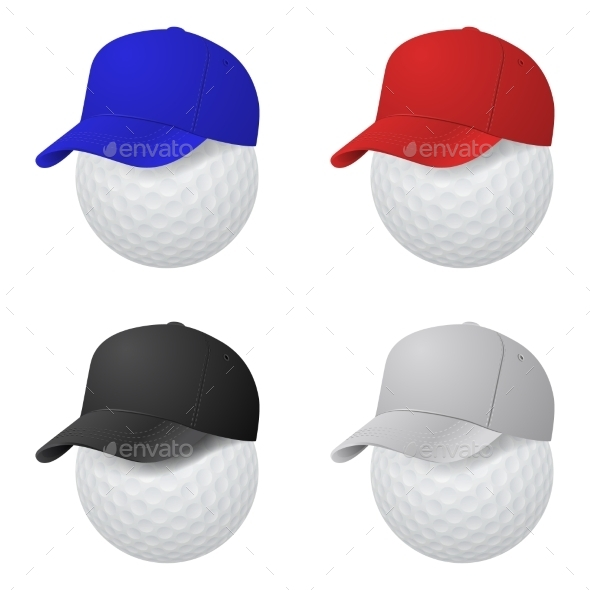 GraphicRiver Set of Caps on Golf Balls 11008705