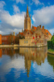 The picturesque city landscape in Bruges, Belgium - PhotoDune Item for Sale