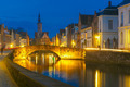 Night Canal Spiegel in Bruges, Belgium - PhotoDune Item for Sale