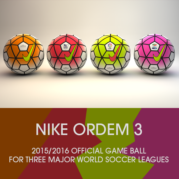 3DOcean Nike Ordem 3 Official game ball 3D model 11008901