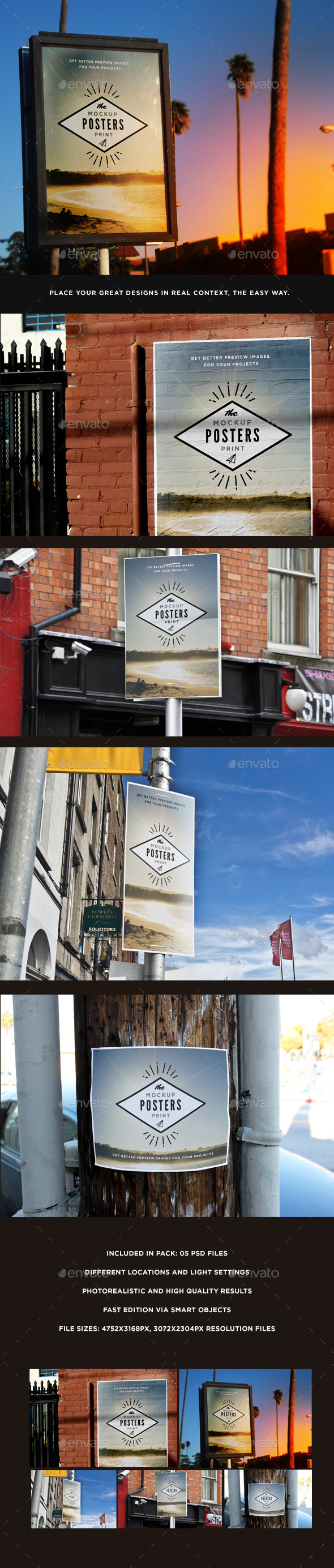 GraphicRiver Poster Mock-Up 11008914