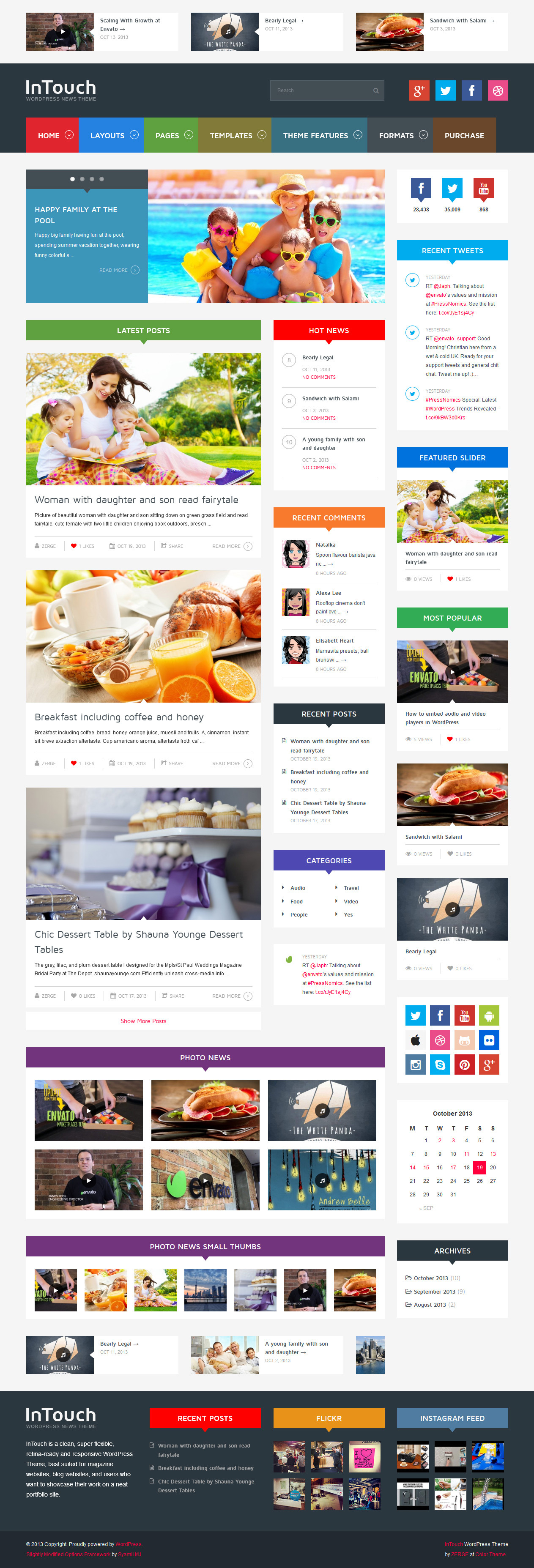 InTouch - Retina Responsive WordPress News Theme - Home Page