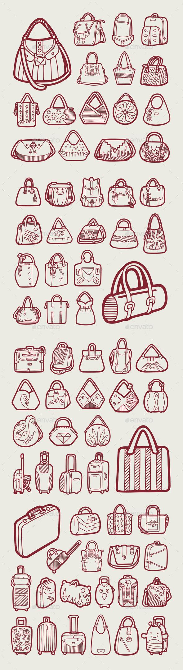 GraphicRiver 71 Bag Icons 11009021