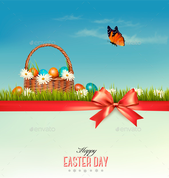 GraphicRiver Happy Easter Background 11009023