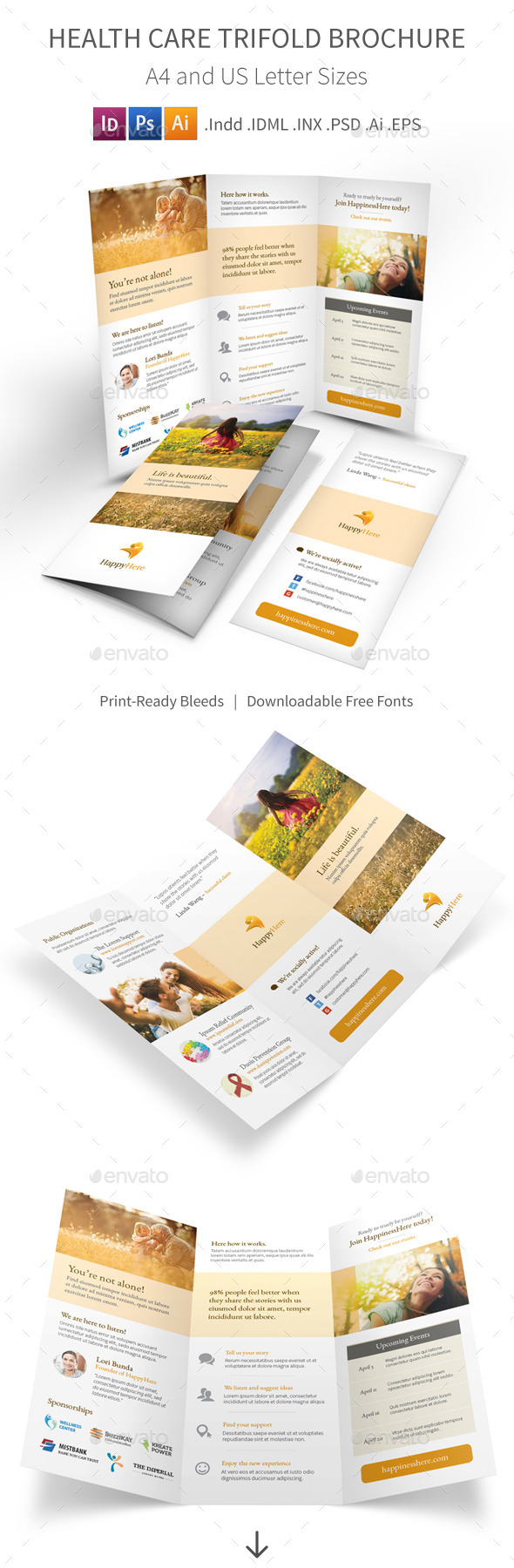 GraphicRiver Health Care Trifold Brochure 10983929