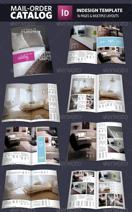 mail order catalog indesign template by adriennepalmer. Black Bedroom Furniture Sets. Home Design Ideas
